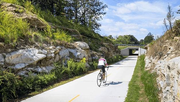 Eski Tren Yolundan Bisiklet Parkuru Yapıldı