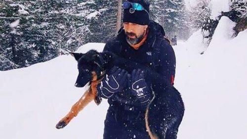 Donmak Üzere Olan Köpeği, Kilometrelerce Kucağında Taşıdı