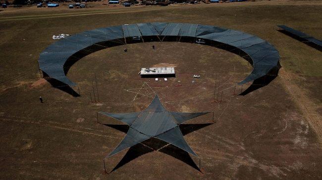 Hatay'da 12500 Metrekarelik Alan Üzerine Ay-Yıldız Figür