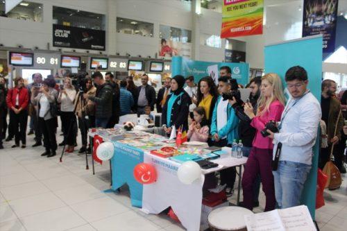 Bükreş Havaalanında Cumhuriyet Bayramı Kutlaması