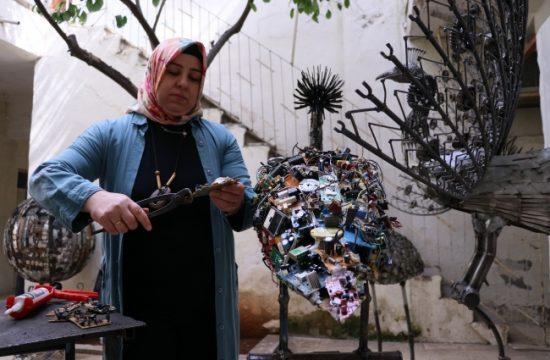 Sıfır Atık Mavi Projesi'ne Kuş Heykelleriyle Destek