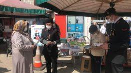 Kastamonu'da Jandarma Kadın Ve Çocuğa Şiddete Karşı Broşür Dağıttı